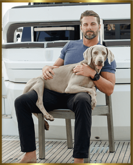Mike Hazle and his dog